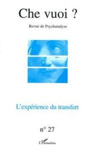 Couverture de la revue Che vuoi ? 2007 N°27