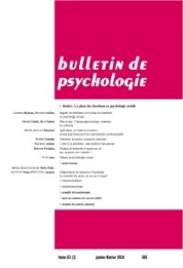 Couverture du bulletin de psychologie n°508
