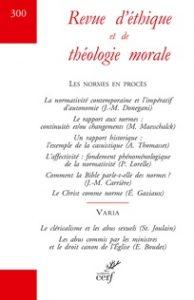 Couverture de la Revue d'éthique et de théologie morale, numéro 300, décembre 2018