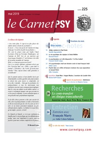 Couverture de la revue Le Carnet Psy N°225
