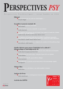Couverture de la revue Perspectives Psy